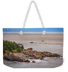 Weekender Tote Bag featuring the photograph Steaming Through Quoddy Narrows by Rick Berk