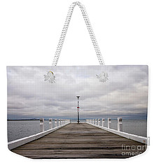 Weekender Tote Bag featuring the photograph Steampacket Quay by Linda Lees