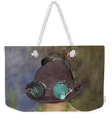 Steampunk Beauty With Hat And Goggles - Square Weekender Tote Bag