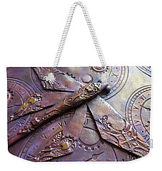 Steampunk Dragonfly Weekender Tote Bag