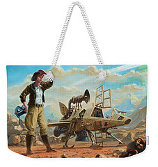 Steampunk Girl With Spaceship Weekender Tote Bag