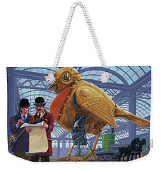 Steampunk Mechanical Robin Factory Weekender Tote Bag by Martin Davey
