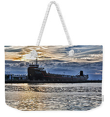 Weekender Tote Bag featuring the photograph Steamship William G. Mather - 1 by Mark Madere