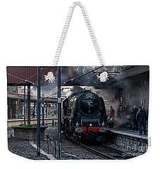Stean Departure At York Weekender Tote Bag by David  Hollingworth