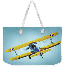 Weekender Tote Bag featuring the photograph Stearman by James Barber