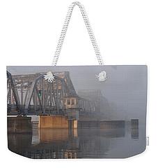 Steel Bridge In Fog Weekender Tote Bag