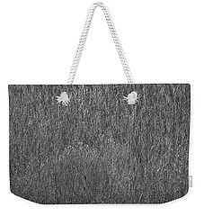 Steel Gray Grass Weekender Tote Bag