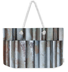 Weekender Tote Bag featuring the photograph Steel by Jim Hughes