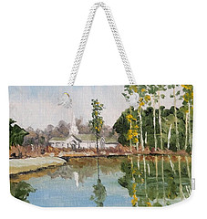 Steeple Reflection Weekender Tote Bag