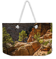 Steeply Up The Canyon Weekender Tote Bag