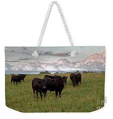 Steers In The Pasture Weekender Tote Bag