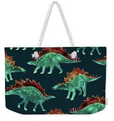 Stegosaurus Weekender Tote Bag by Varpu Kronholm