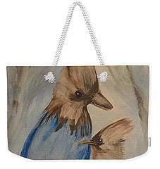 Stellar Jay - Winter #4 Weekender Tote Bag by Maria Urso
