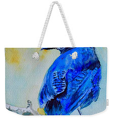 Steller's Jay On Aspen Weekender Tote Bag