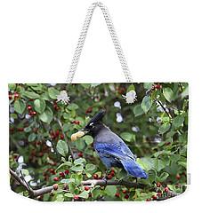 Steller's Jay Weekender Tote Bag
