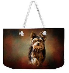 Stepping Into Autumn Yorkshire Terrier Art Weekender Tote Bag