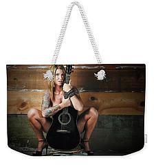 Stephanie W/guitar Weekender Tote Bag