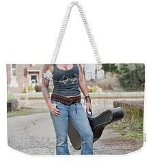 Stephanie Guitar Standing 1 Weekender Tote Bag