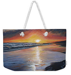 Weekender Tote Bag featuring the painting Stephanie's Sunset by Donna Tuten