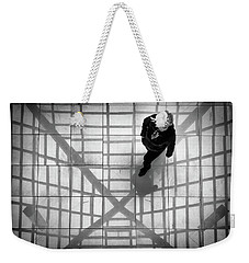 Weekender Tote Bag featuring the photograph Stepping Into The Web by John Williams