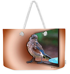 Weekender Tote Bag featuring the digital art Stepping Out Into The Spotlight by Sue Melvin