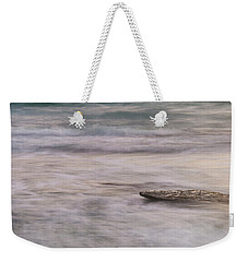 Weekender Tote Bag featuring the photograph Stepping Stone by Alex Lapidus