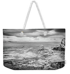 Weekender Tote Bag featuring the photograph Steps Into The Water by Gary Gillette