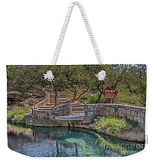 Weekender Tote Bag featuring the photograph Steps Leading To The Blue Hole by Sue Smith