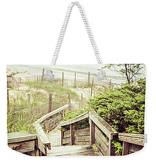Weekender Tote Bag featuring the photograph Steps To Lake Michigan by Joel Witmeyer