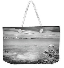 Weekender Tote Bag featuring the photograph Steps To The Smoky Sea by Gary Gillette