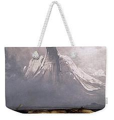 Stetind In Fog Weekender Tote Bag