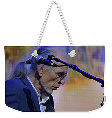 Weekender Tote Bag featuring the photograph Steve Howe From Yes by Melinda Saminski