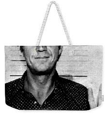 Steve Mcqueen Mug Shot Vertical Weekender Tote Bag