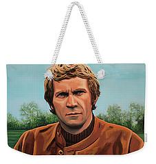 Steve Mcqueen Painting Weekender Tote Bag by Paul Meijering