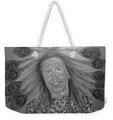 Weekender Tote Bag featuring the painting Steven Tyler Art by Jeepee Aero