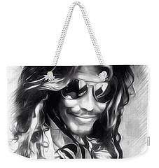 Steven Tyler Illustration  Weekender Tote Bag by Scott Wallace