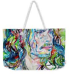 Steven Tyler - Watercolor Portrait Weekender Tote Bag