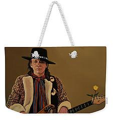 Stevie Ray Vaughan 2 Weekender Tote Bag by Paul Meijering