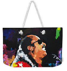 Stevie Wonder Live Weekender Tote Bag by Richard Day