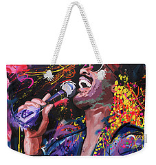 Weekender Tote Bag featuring the painting Stevie Wonder by Richard Day