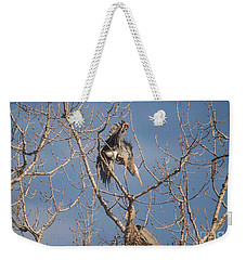 Weekender Tote Bag featuring the photograph Stick Acceptance by David Bearden