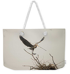 Weekender Tote Bag featuring the photograph Stick Man by David Bearden