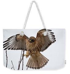 Stick The Landing Weekender Tote Bag