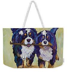 Stick Together Weekender Tote Bag
