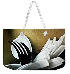 Weekender Tote Bag featuring the photograph Stickin Out by Robert Knight