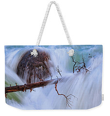 Weekender Tote Bag featuring the photograph Sticks And Stones by Rick Furmanek