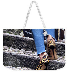 Weekender Tote Bag featuring the photograph Stiletto,steps And Stones by Jennie Breeze