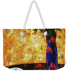 Weekender Tote Bag featuring the painting Still Life. Cherries For The Queen by Anastasija Kraineva