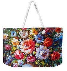 Still Life Colourful Flowers In Bloom Weekender Tote Bag