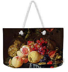Still Life Weekender Tote Bag by Cornelis de Heem